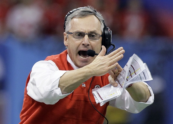 Coach Jim Tressel: Time out