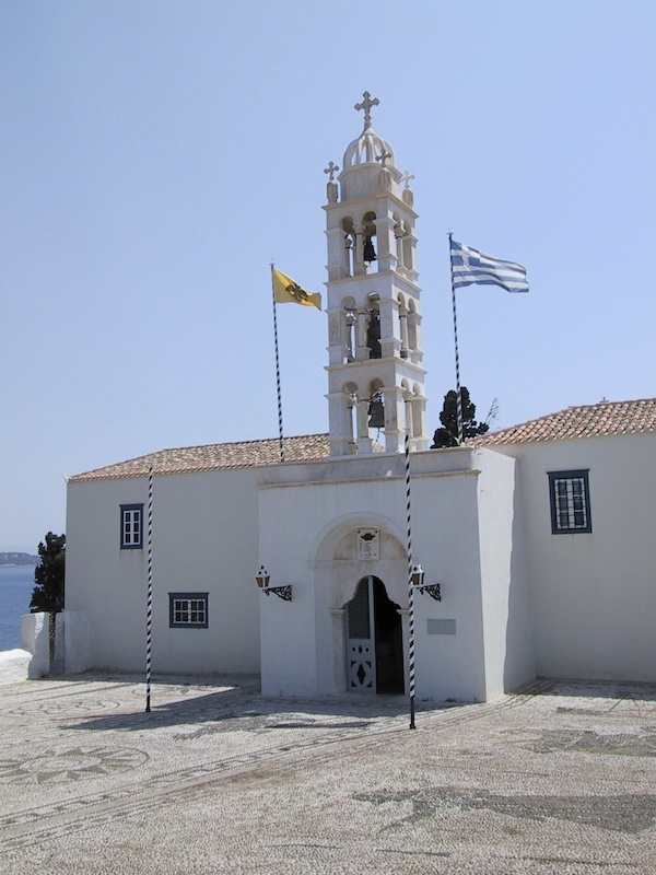 Church of Aghios Nikolaos, Spetses, Greece.