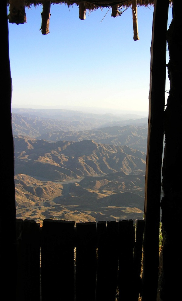 A loo with a view, Tigray.