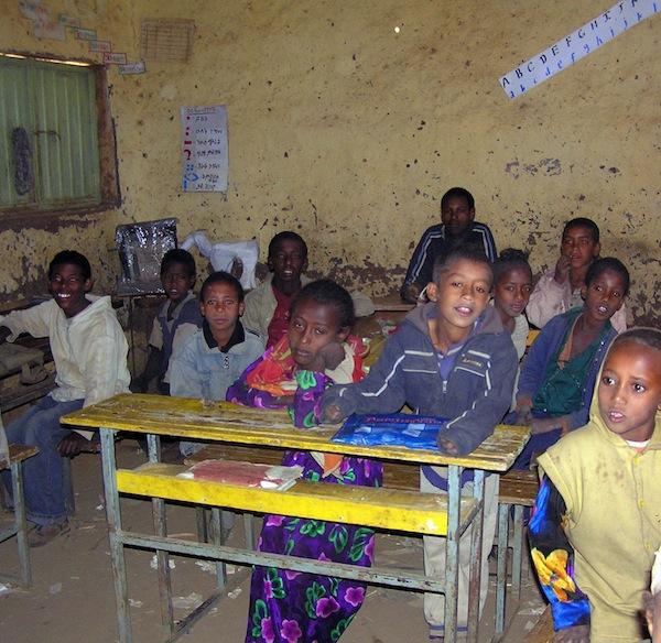 A schoolroom in Tigray.