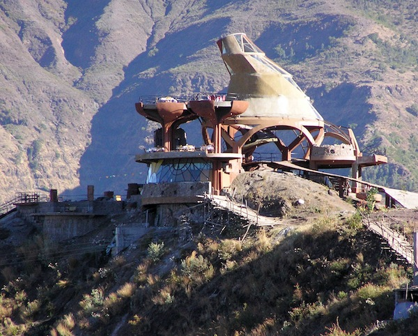 The Concrete-Mixer Restaurant, Lalibela.
