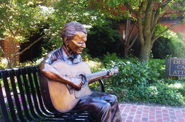 Statue of doc at work, Boone, North Carolina.