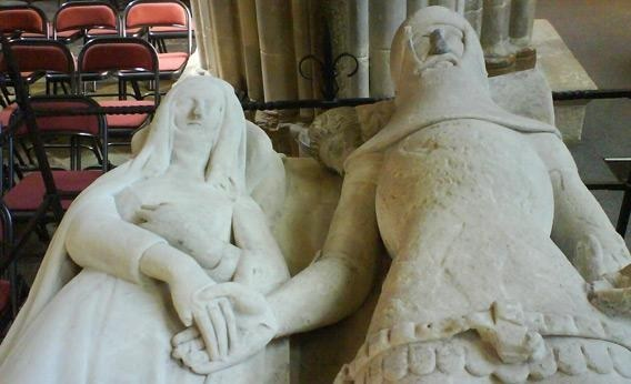 Tomb effigy at Chichester Cathedral.