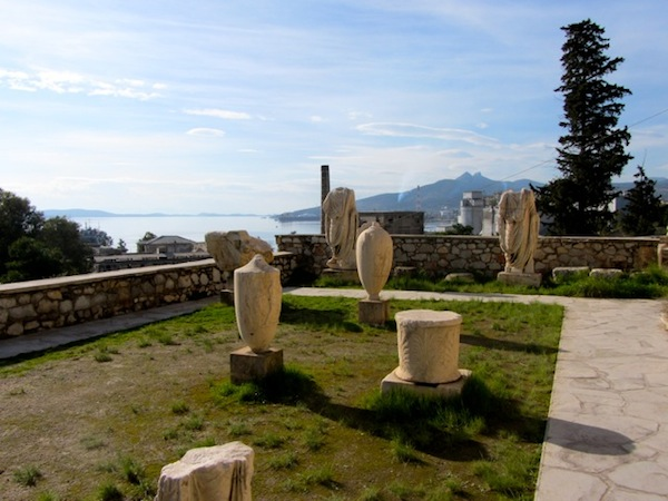 The Eleusis Museum's terrace and view.