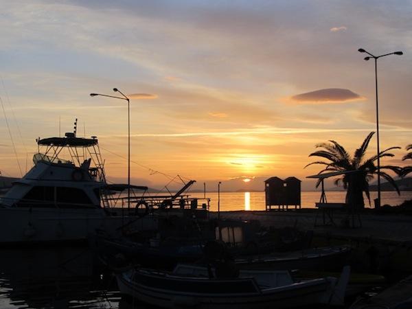 Sunset at Elefsina.
