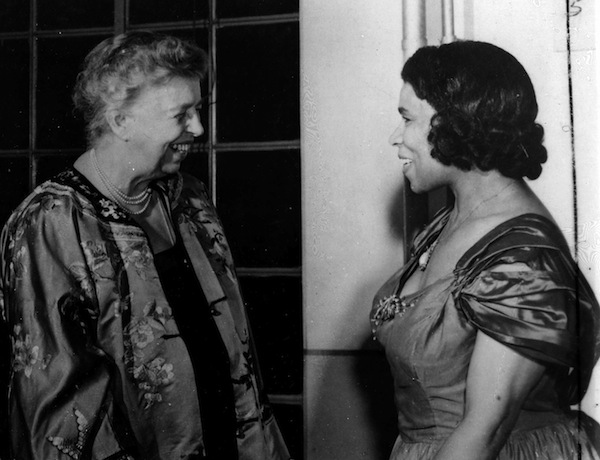 First Lady Eleanor Roosevelt championed the rights of African-American women during the war years.