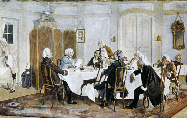 "Emil Doerstling, ""Kant and Friends at Table."""