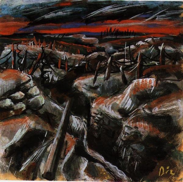 """""""Trenches, 1917,"""" Wilhelm Heinrich Otto Dix."""