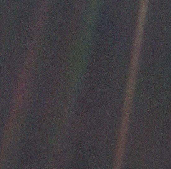 Carl Sagan's Pale Blue Dot.