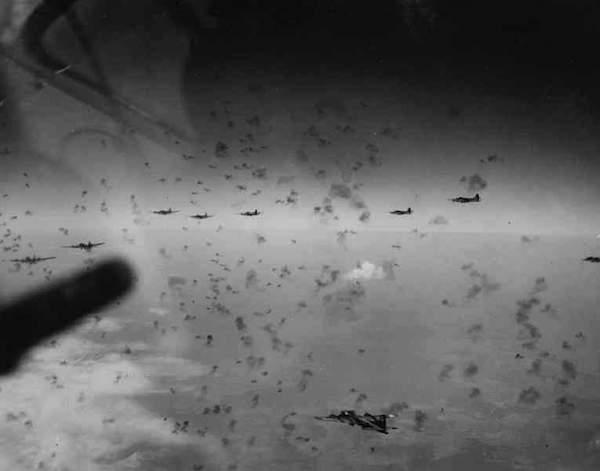 Flying through heavy Flak.