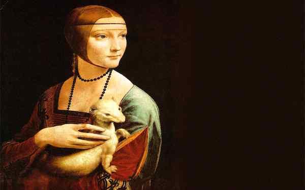 """""""Dama con l'ermellino,"""" by Leonardo da Vinci."""