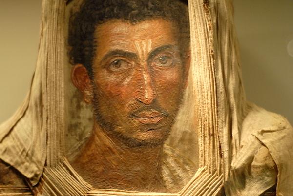 Mummy portrait of a bearded man, encaustic on wood, Royal Museum of Scotland.
