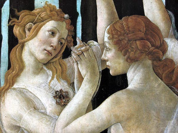 La Primavera, or Allegory of Spring (detail), by Sandro Botticelli, c. 1482.