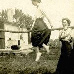 Making light of rural drudgery: riding the clothesline.