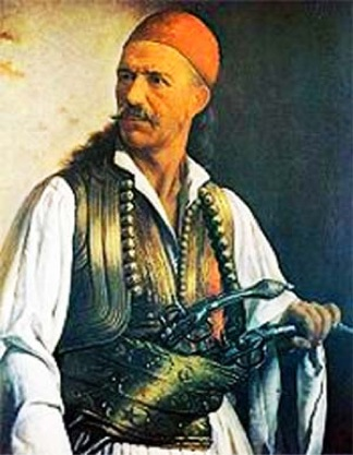 "The famous 19th-century ""Kleft"" chieftan, Dimitrios Makris."