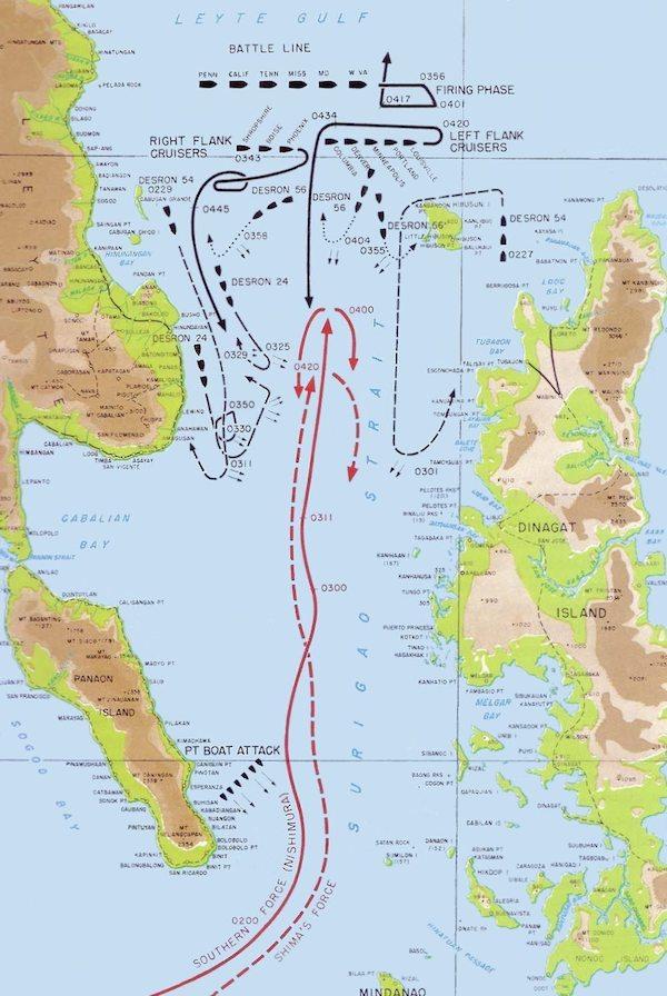 The Battle of Surigao Strait.