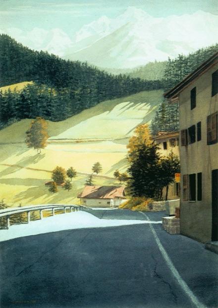 """""""Champsec,"""" Watercolor, 29.5"""" x 21.25"""" (2000)."""