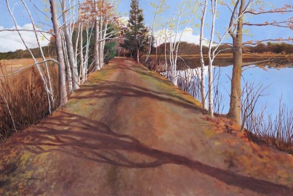 Duxbury Morning, Oil on Canvas, 24″ x 36″ (2015).