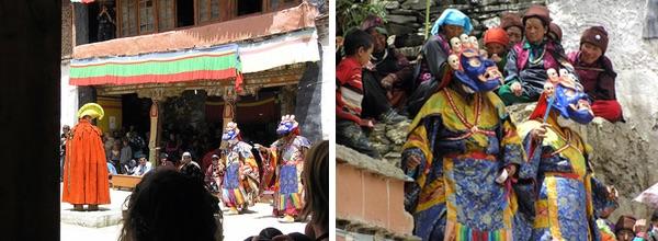 12 Dancers, Karsha gompa. 13 Dancers and locals, Karsha.