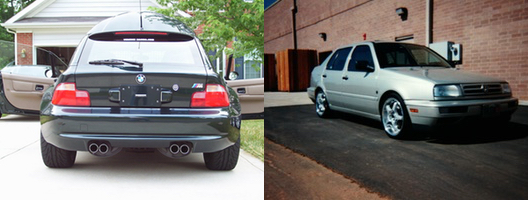 2002 BMW M Coupe S54 and Jetta