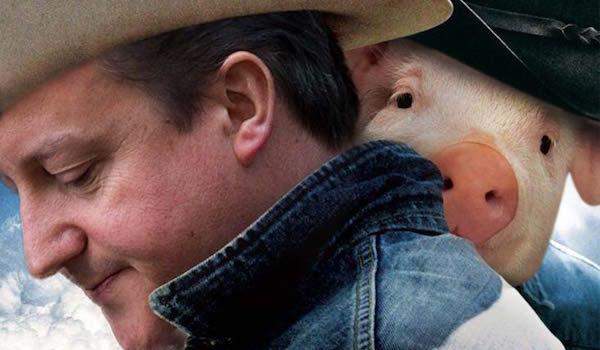 Cameron, and alleged porcine companion.
