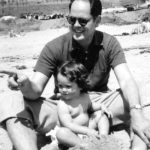 F. Jack and Bebe Herring on the beach, California, mid-1950s.