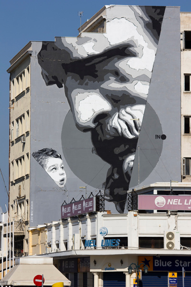 """We Have The Power,"" mural by Greek visual artist iNO, in Piraeus, Greece."