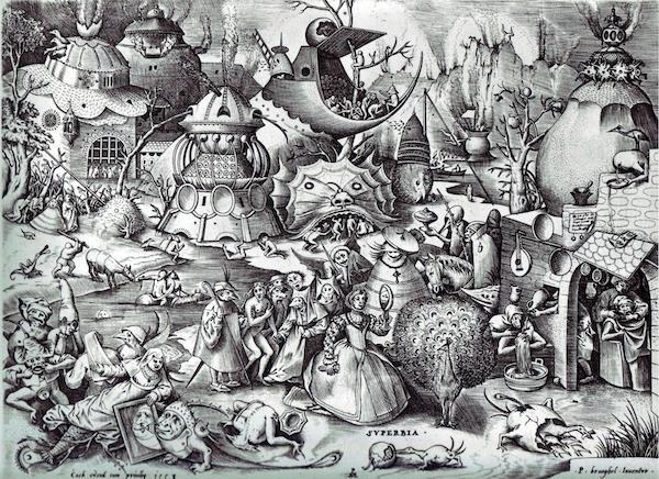 """The Seven Deadly Sins or the Seven Vices,"" by Pieter Bruegel the Elder."