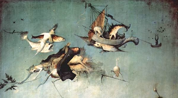 """The Temptation of St. Anthony"" (detail), by Hieronymus Bosch."