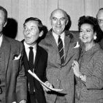 """Round The Horn,"" Kenneth Horne, Kenneth Williams, Hugh Paddick, Bill Pertwee, Douglas Smith and Betty Marsden."