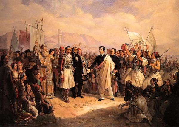 Theodoros Vryzakis, Byron at Missolonghi.