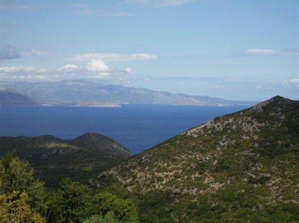Monemvasia, view from the mountain village of Ano Kastania, Greece. (Photo: Antonis Kourkoulis.)