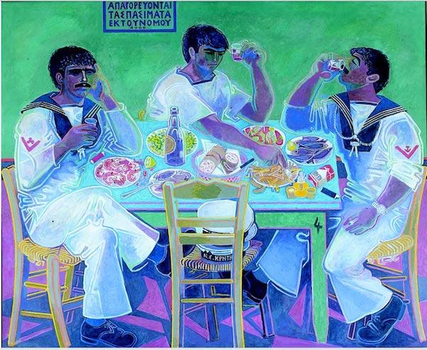 """Still Life with Three Sailors,"" by John Craxton."