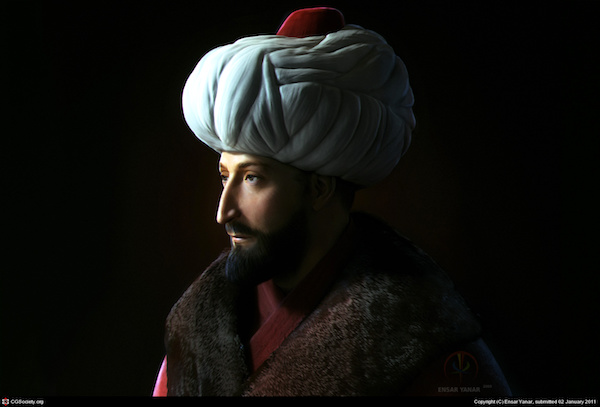 The Sultan Mehmed II (image by EnsarYanar).