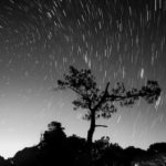 Image of the Perseid meteor shower , taken from Fonte-de-Telha, Portugal (Photo: Miguel Claro).