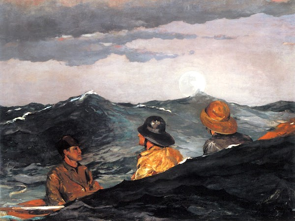"""""""Kissing the Moon,"""" by Winslow Homer."""
