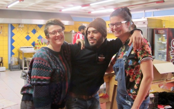 Julia, Fahad, and Irena make feeding 400 people a day look as easy as pie.