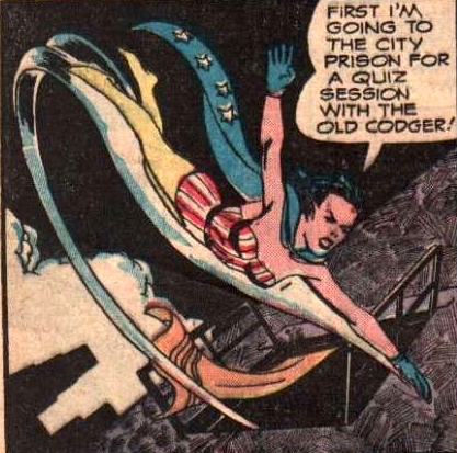 A different superhero: Interior artwork, likely from Captain Flight Comics (1947) by an unknown artist.