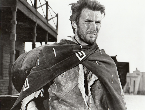 "Publicity photo of Clint Eastwood from ""A Fistful of Dollars,"" 1964."