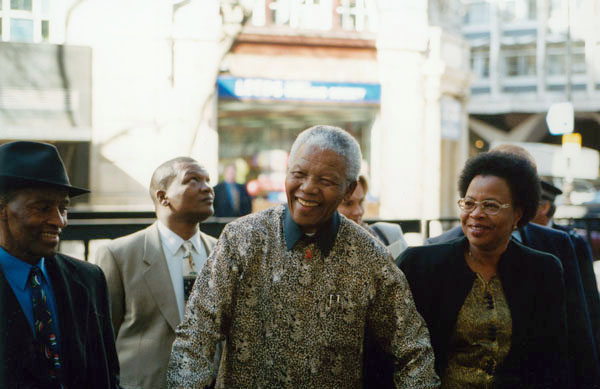 Nelson Mandela at the London School of Economics, 2000.