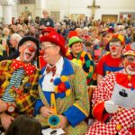 Clowns in church.