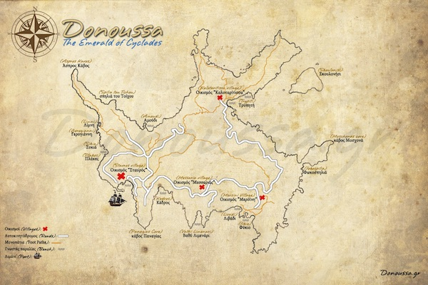 Map of Donoussa.