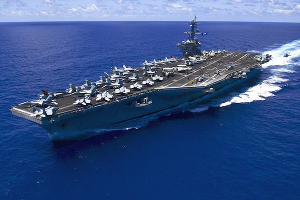 USS Carl Vinson (CVN-70) underway in the Pacific Ocean, May 2015.