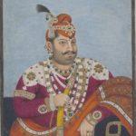 The Raja of Mandi with his shawl.