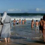 Nuns on the beach (Photo: Getty).