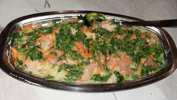 "Our delicious smoked trout ""salad"" at Farouk's"