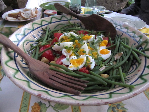 One of Connie's succulent salads, served in Provence.