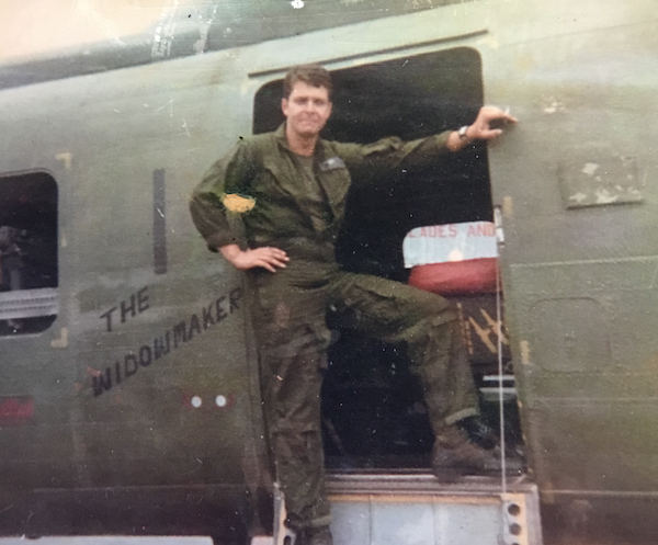 """John in late summer, 1969, with YK1, """"The Widowmaker."""""""