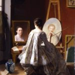"""Portrait of an Artist Painting Her Self Portrait,"" by Jean Alphonse Roehn (1799)."