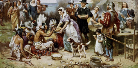 Idealized Version of the first Thanksgiving.